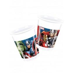Bicchieri in Plastica Avengers