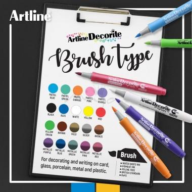 Artline Decorite Marker Brush METAL