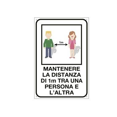 Etichetta: Mantenere la distanza di 1...