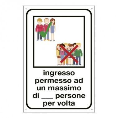 Etichetta per Vetrofania: Ingresso...