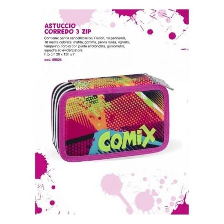 Astuccio 3 zip Comix