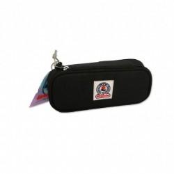 Astuccio Invicta ovale porta penne lip pencil bag plain | nero scuro