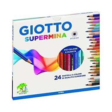 Confezione Da 24 Pastelli Giotto Supermina 3.8 mm