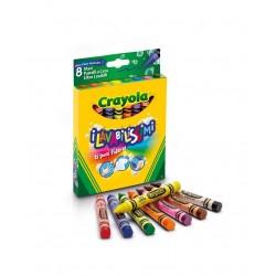 8 Maxi Pastelli A Cera Lavabili Crayola
