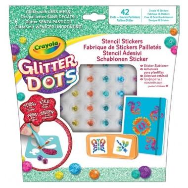 Crayola - Glitter Dots Stencil Adesivi