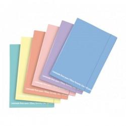 Cartelline con elastico Buffetti Happy Color colori Pastello - 34x24cm