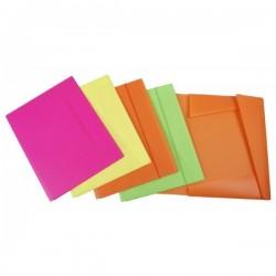 Cartella con elastico Buffetti formato A3   colori fluorescenti