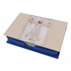 L'Uomo di Vitruvio scatola con fogli per appunti
