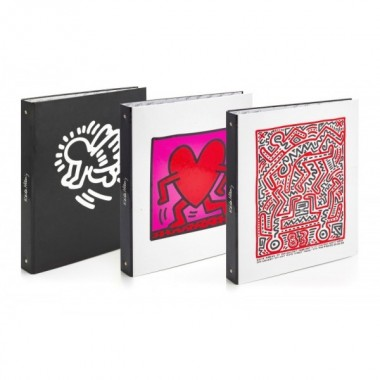 Cartella 4 anelli Keith Haring NEW
