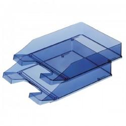 Vaschetta portacorrispondenza blu trasparente