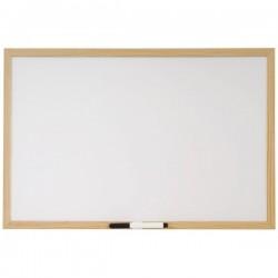 Lavagna bianca con cornice in legno - 60 x 90 cm