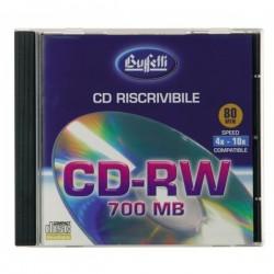 CD-RW riscrivibile - 700 MB - jewel case - silver