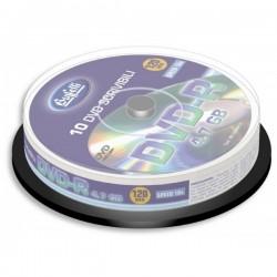 DVD-R scrivibile - 4,7 GB - spindle da 10 - silver