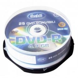 DVD-R scrivibile - 4,7 GB - spindle da 25 - silver