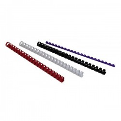 Dorsi plastici a 21 anelli - dorso 19 mm - bianco - Buffetti