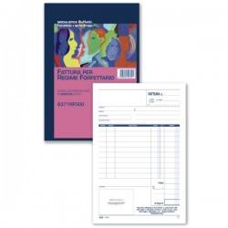 Fattura regime forfettario - 21,5 x 14,8 cm - duplice copia - Buffetti
