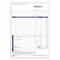 Parcella per professionisti e registro onorari - 21,5 x 14,8 - duplice copia