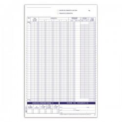 Registro corrispettivi - Primanota - 12 fogli - duplice copia - 29,7 x 21,5