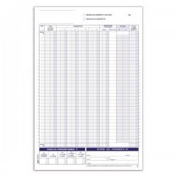 Registro corrispettivi - Primanota - 24 fogli - duplice copia - 29,7 x 21,5