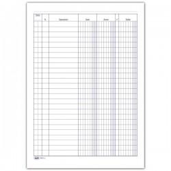 Registro Dare-Avere-Saldo - 100 pagine - 24 x 17 cm