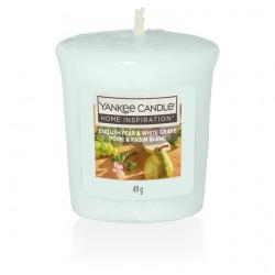 Yankee Candle English Pear & White Grape Votive con Vasetto